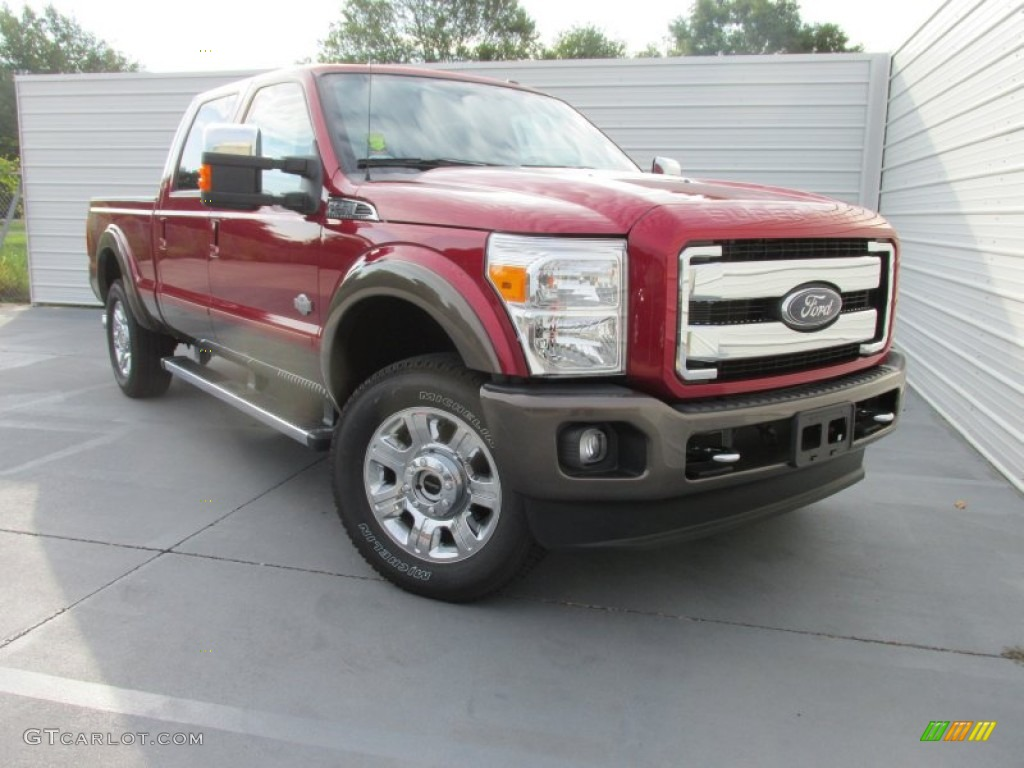 2016 F250 King Ranch >> 2016 Ruby Red Metallic Ford F250 Super Duty King Ranch Crew
