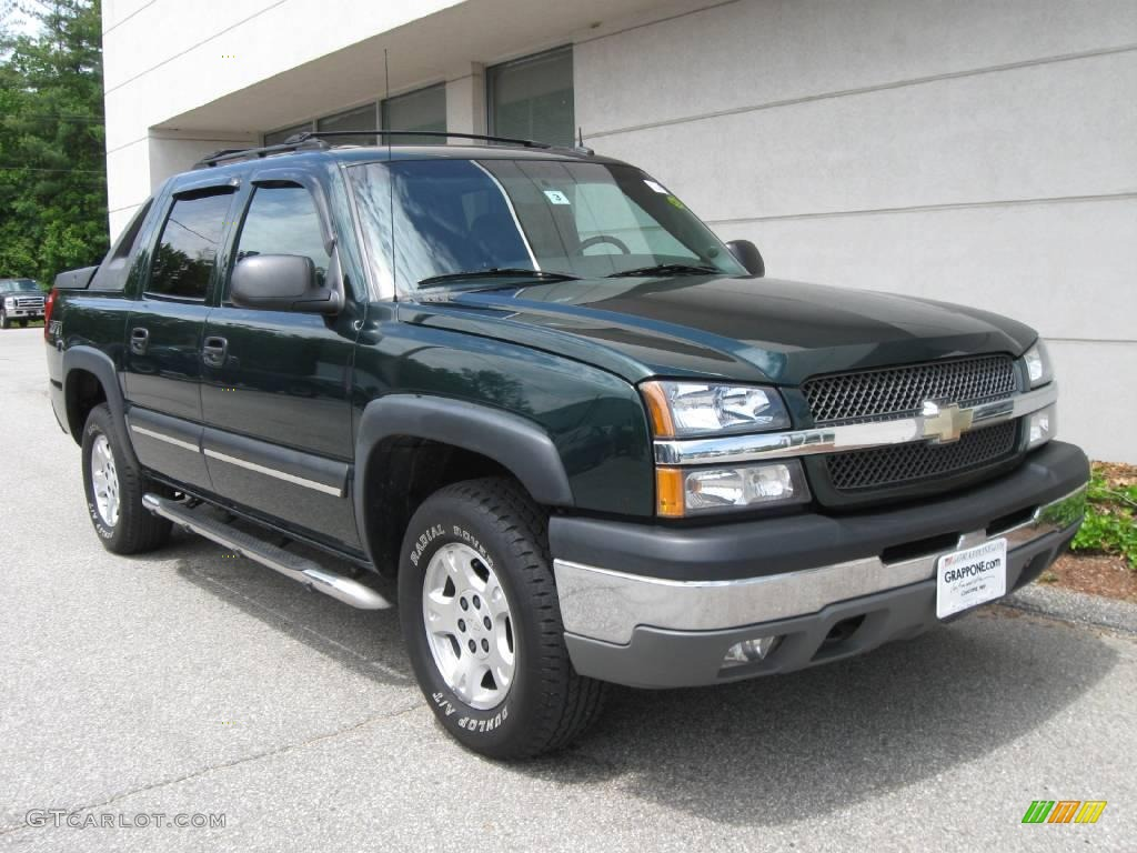 2003 dark green metallic chevrolet avalanche 1500 z71 4x4 10683476 car color. Black Bedroom Furniture Sets. Home Design Ideas