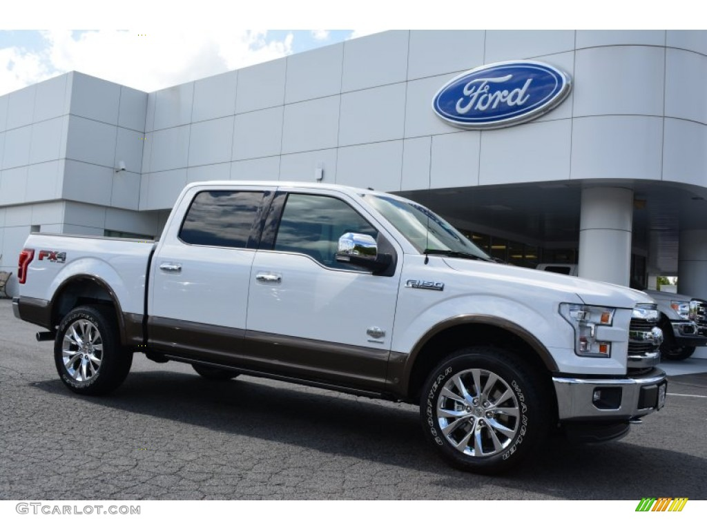 2017 King Ranch F150 >> 2015 Oxford White Ford F150 King Ranch SuperCrew 4x4 #107011285 | GTCarLot.com - Car Color Galleries