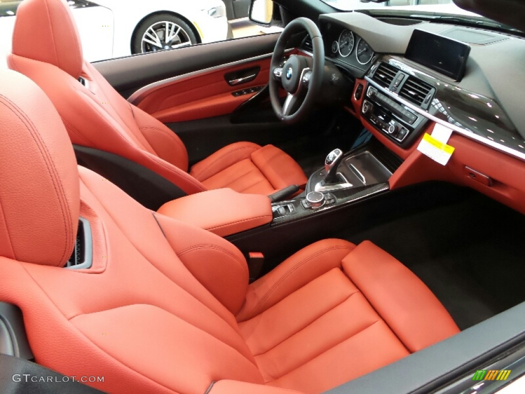 Coral Red Interior 2016 Bmw 4 Series 435i Xdrive Convertible Photo 107038491
