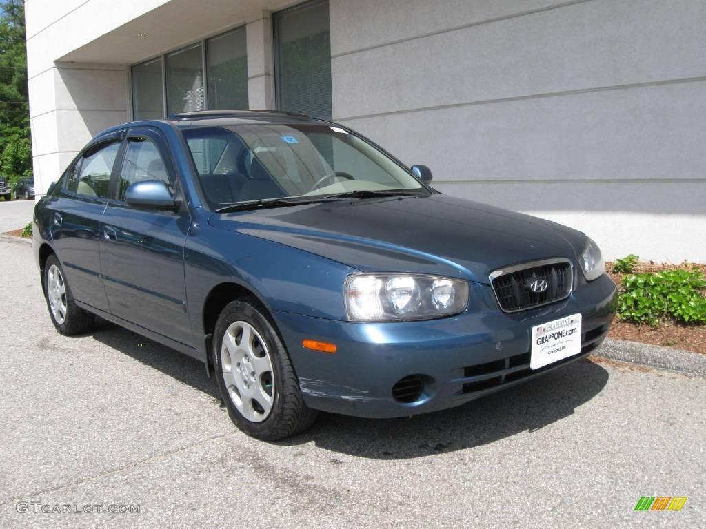 2003 ocean blue hyundai elantra gls sedan 10683499 gtcarlot com car color galleries gtcarlot com
