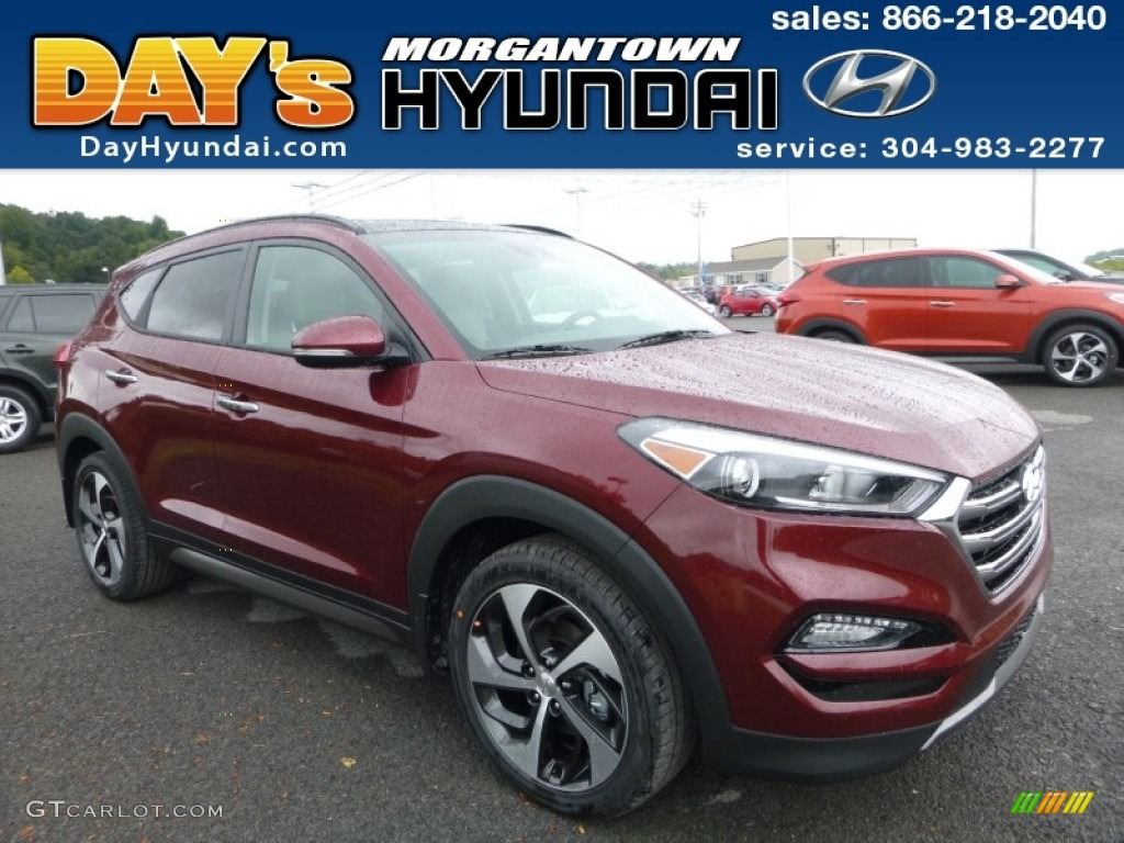 2016 ruby wine hyundai tucson limited awd 107044074. Black Bedroom Furniture Sets. Home Design Ideas