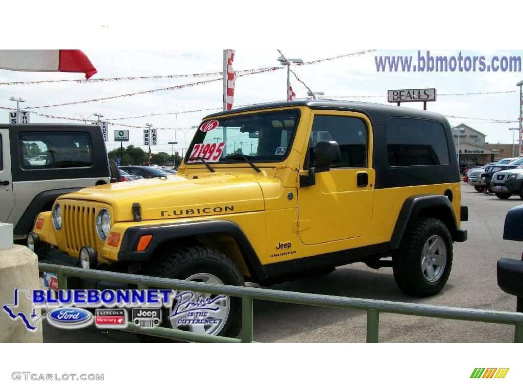2006 solar yellow jeep wrangler unlimited rubicon 4x4. Black Bedroom Furniture Sets. Home Design Ideas