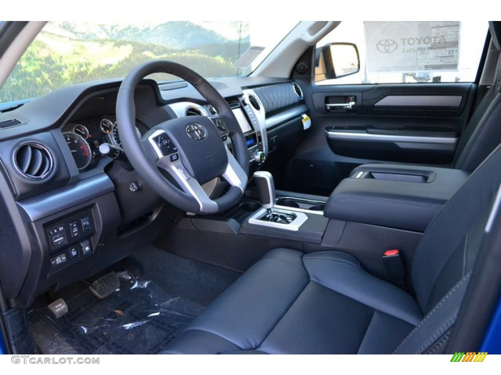 Black Interior 2016 Toyota Tundra Platinum Crewmax 4x4 Photo 107112905