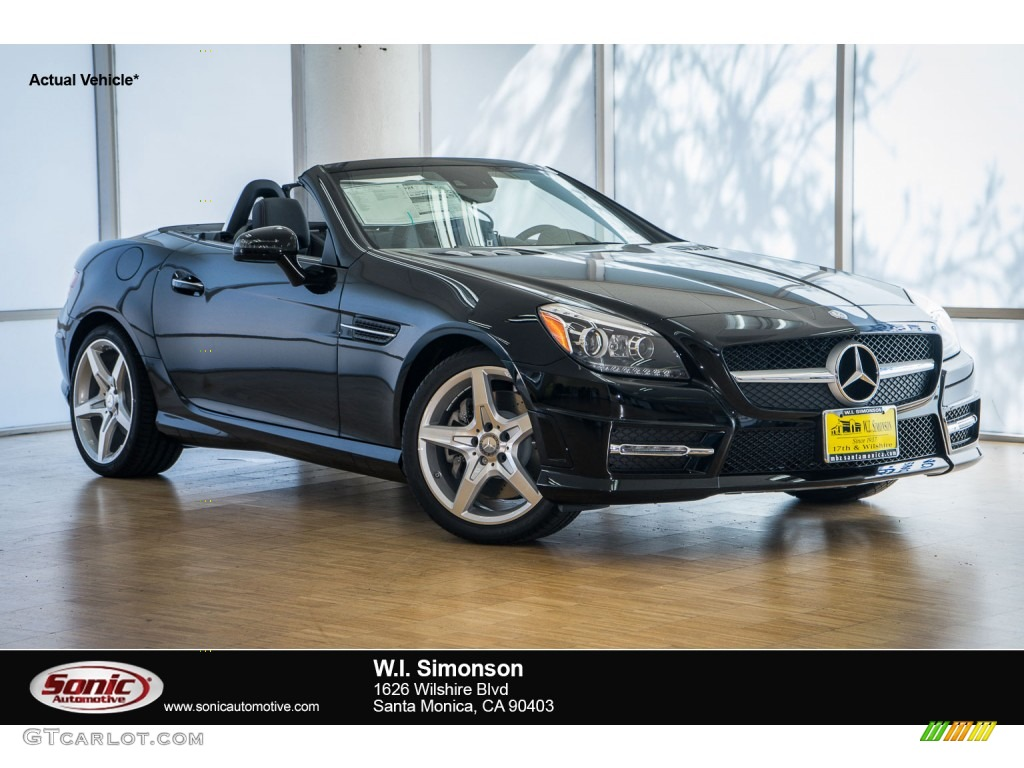 2016 slk 350 roadster black black photo 1
