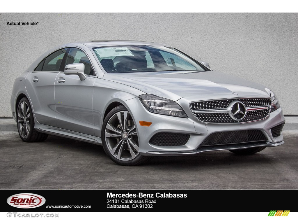 2016 iridium silver metallic mercedes benz cls 400 coupe for Mercedes benz silver