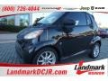 Deep Black 2009 Smart fortwo passion cabriolet