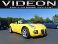 Mean Yellow 2009 Pontiac Solstice GXP Roadster