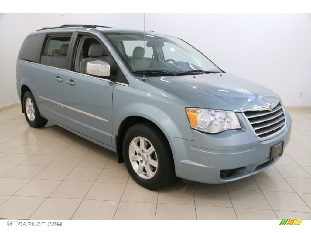 2009 clearwater blue pearl chrysler town country touring 107202376 car color. Black Bedroom Furniture Sets. Home Design Ideas