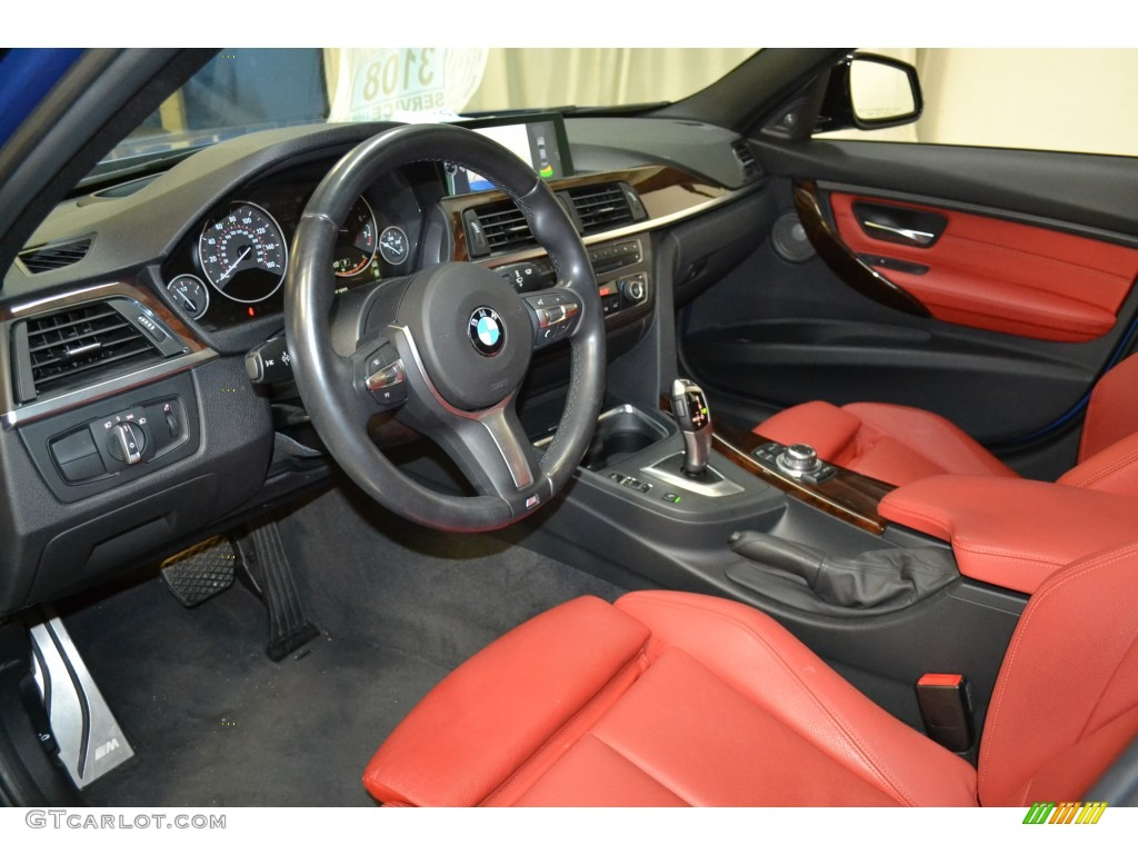 coral redblack interior 2013 bmw 3 series 328i sedan