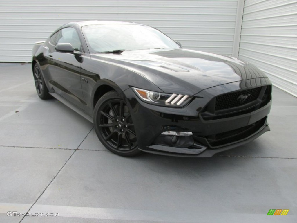 2016 ford mustang gt black 2016 shadow black ford mustang gt coupe 107268843. Black Bedroom Furniture Sets. Home Design Ideas