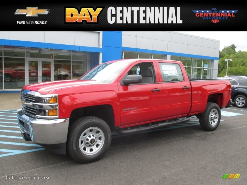 2015 victory red chevrolet silverado 2500hd wt crew cab 4x4 107268548 car. Black Bedroom Furniture Sets. Home Design Ideas