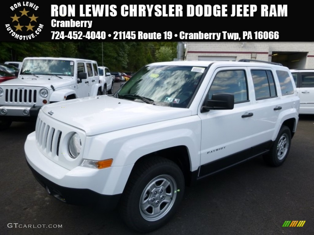 2016 Bright White Jeep Patriot Sport 4x4 107268586