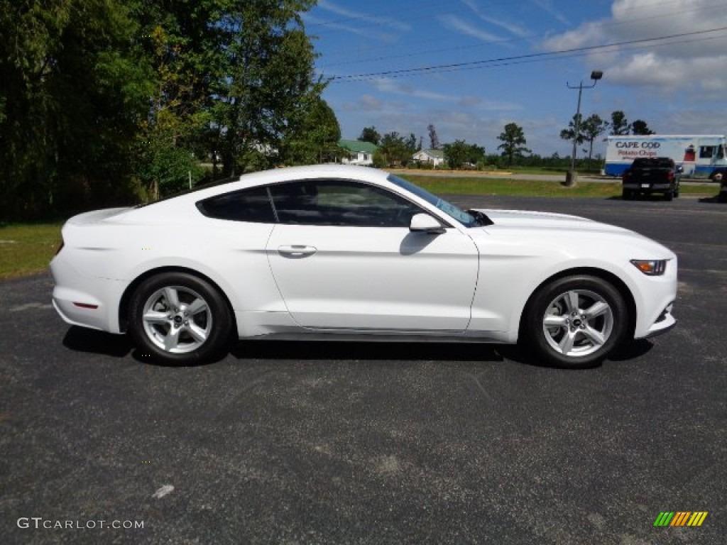 2015 Mustang V6 Coupe - Oxford White / Ebony photo #2