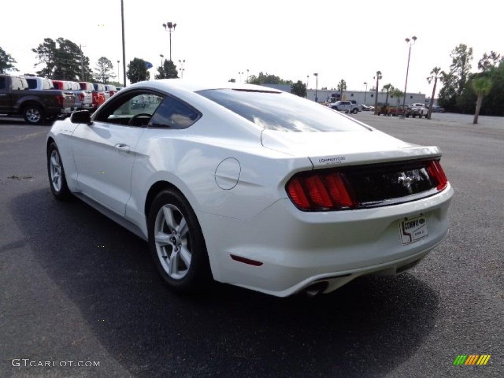 2015 Mustang V6 Coupe - Oxford White / Ebony photo #5