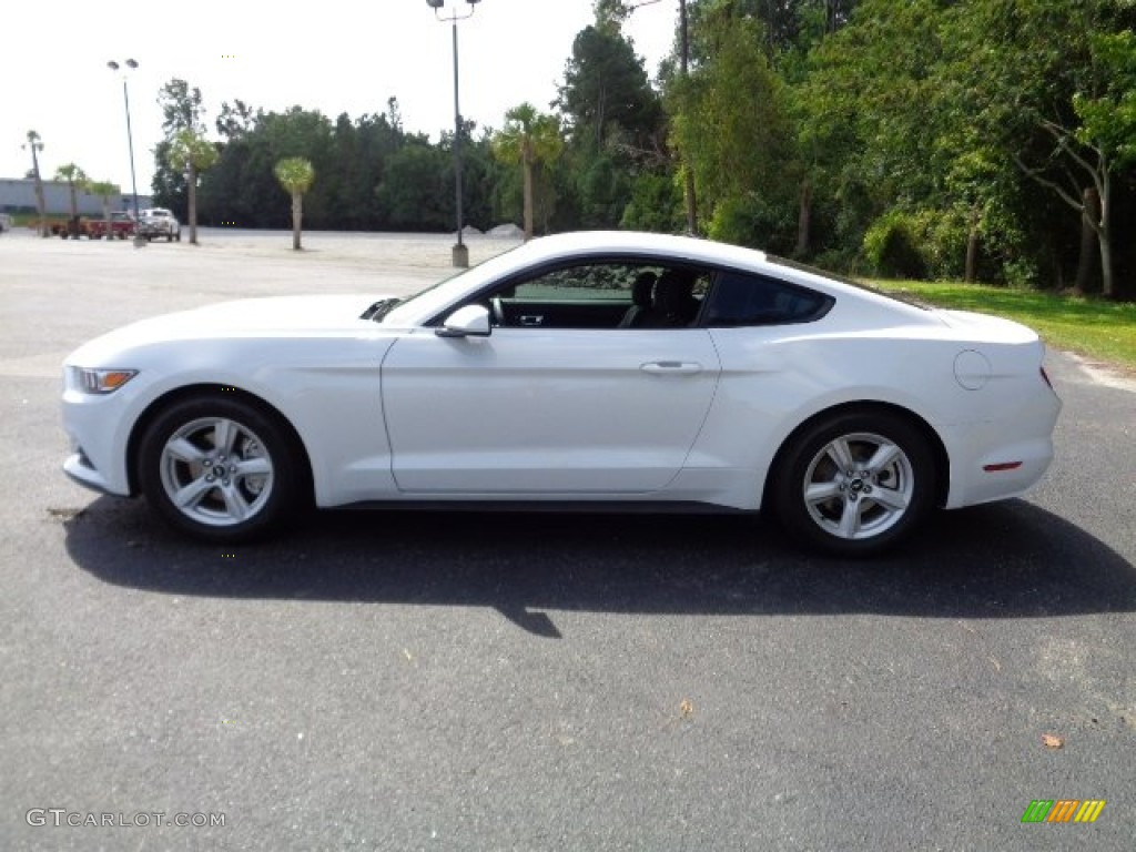 2015 Mustang V6 Coupe - Oxford White / Ebony photo #6