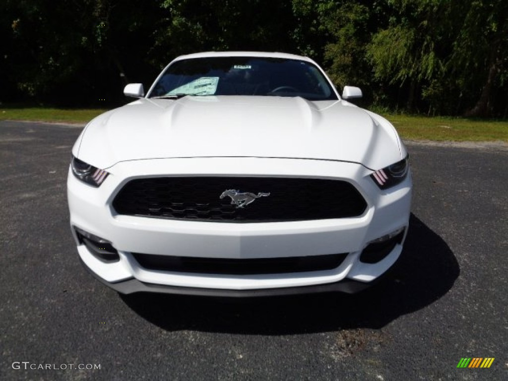 2015 Mustang V6 Coupe - Oxford White / Ebony photo #8