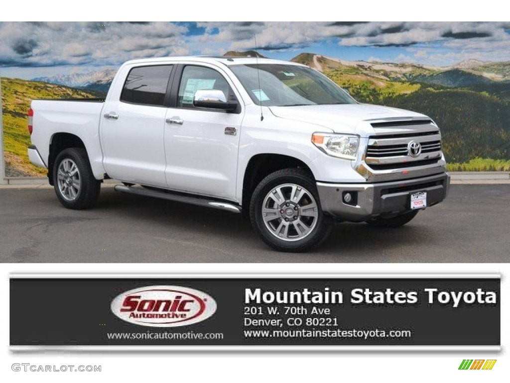 2016 Tundra 1794 CrewMax 4x4 - Super White / 1794 Black/Brown photo #1