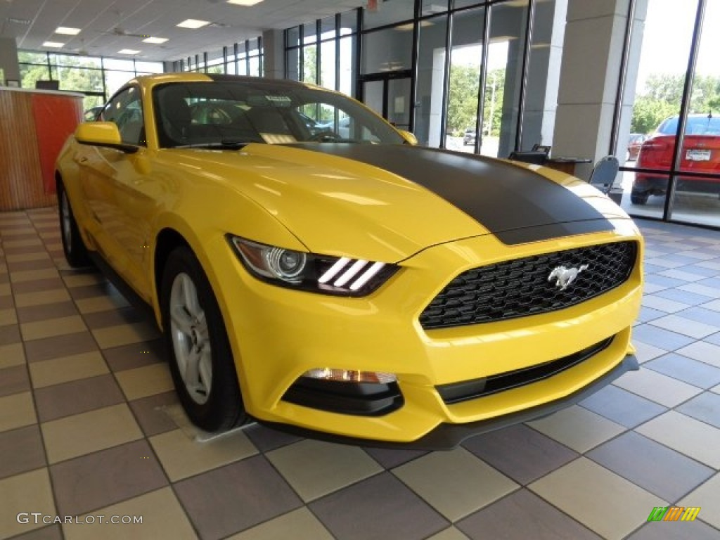 2016 triple yellow tricoat ford mustang v6 coupe 107340740 photo 2 car color. Black Bedroom Furniture Sets. Home Design Ideas