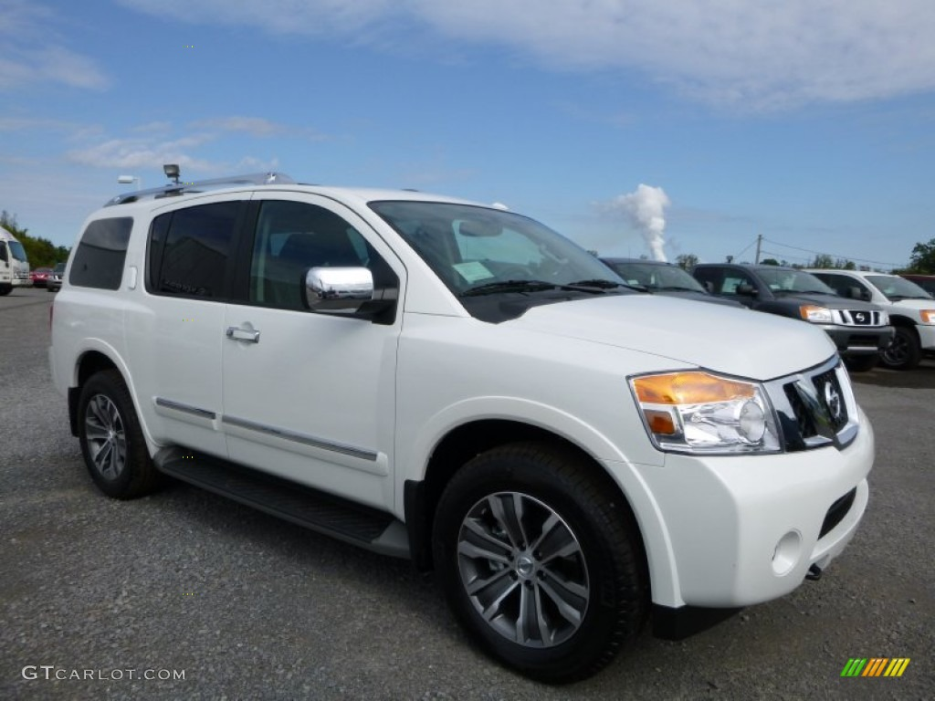 2015 pearl white nissan armada sl 4x4 107340811 car color galleries. Black Bedroom Furniture Sets. Home Design Ideas