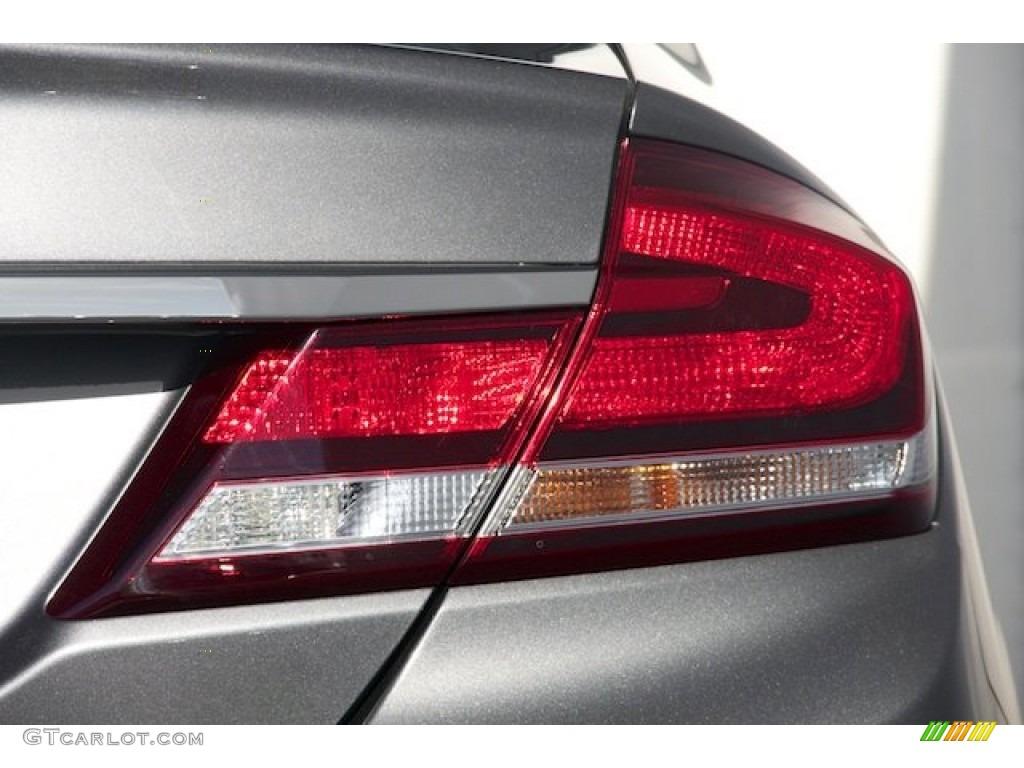 2015 Civic LX Sedan - Modern Steel Metallic / Gray photo #4
