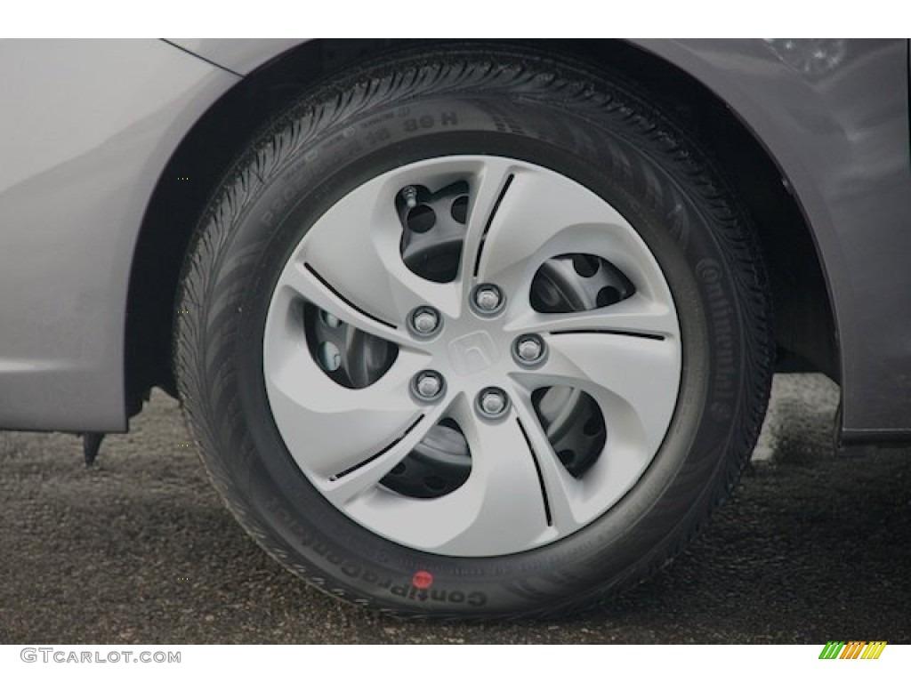 2015 Civic LX Sedan - Modern Steel Metallic / Gray photo #7