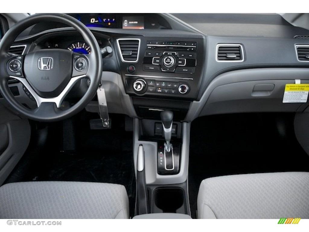 2015 Civic LX Sedan - Modern Steel Metallic / Gray photo #14