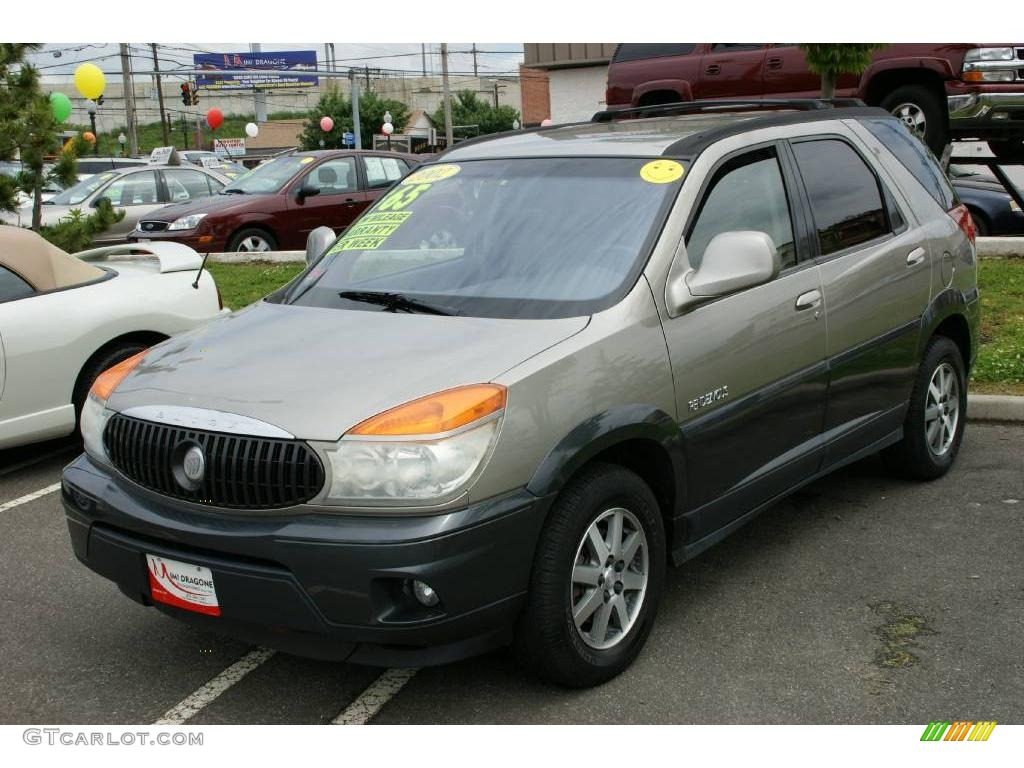 2002 pewter metallic buick rendezvous cxl awd 10734306. Black Bedroom Furniture Sets. Home Design Ideas