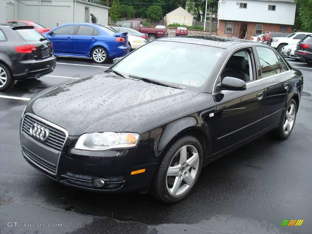 2005 brilliant black audi a4 3 2 quattro sedan 10733335 car color galleries. Black Bedroom Furniture Sets. Home Design Ideas