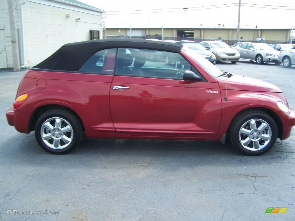 2005 inferno red crystal pearl chrysler pt cruiser touring turbo convertible 10735919 photo 7. Black Bedroom Furniture Sets. Home Design Ideas