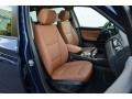 2016 BMW X3 Saddle Brown Interior Front Seat Photo