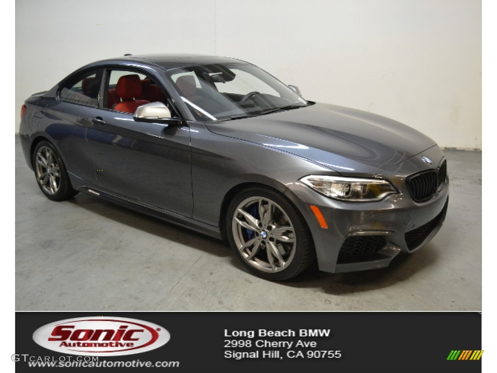 2017 2 Series M235i Coupe Mineral Grey Metallic C Red Black Photo