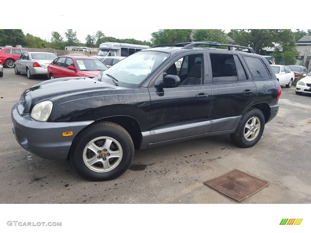 2004 black obsidian hyundai santa fe gls 4wd 107428736 gtcarlot com car color galleries gtcarlot com