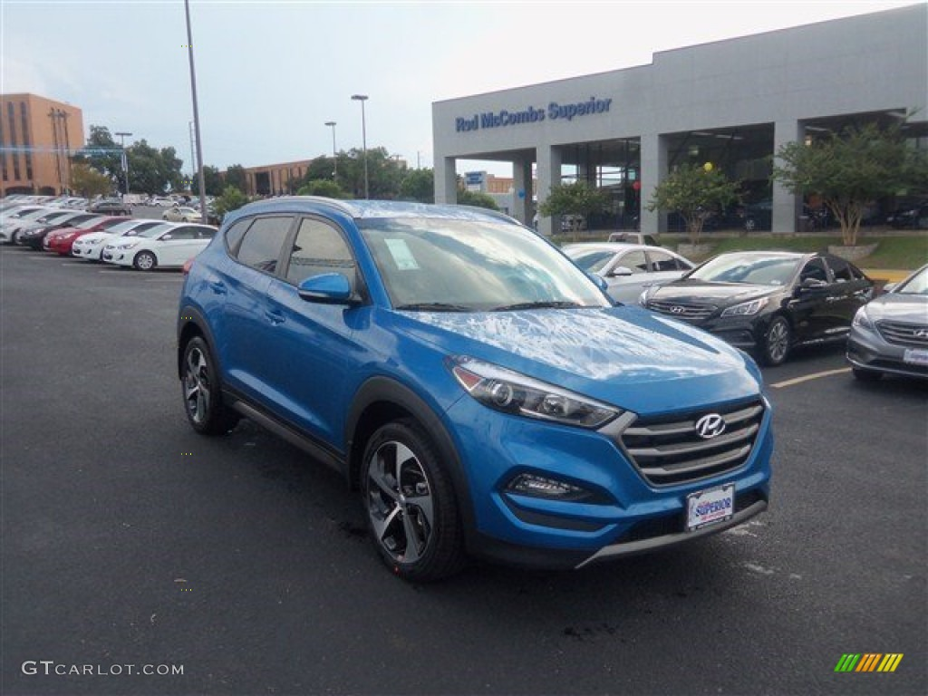 2016 caribbean blue hyundai tucson sport 107460692 car color galleries. Black Bedroom Furniture Sets. Home Design Ideas
