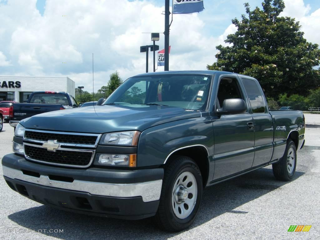 2006 blue granite metallic chevrolet silverado 1500 extended cab 10727350 car. Black Bedroom Furniture Sets. Home Design Ideas