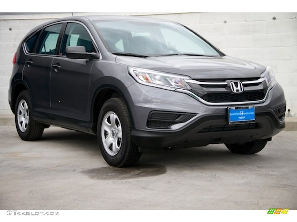 2015 CR-V LX - Modern Steel Metallic / Gray photo #1