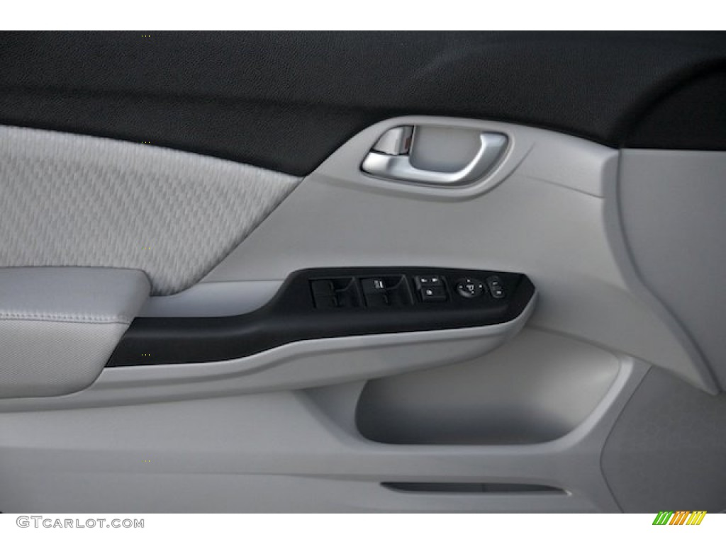 2015 Civic LX Sedan - Modern Steel Metallic / Gray photo #9