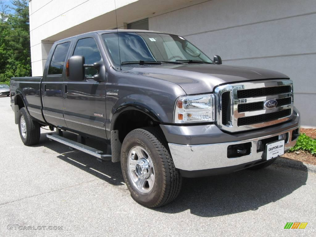 2007 dark shadow grey metallic ford f350 super duty lariat. Black Bedroom Furniture Sets. Home Design Ideas