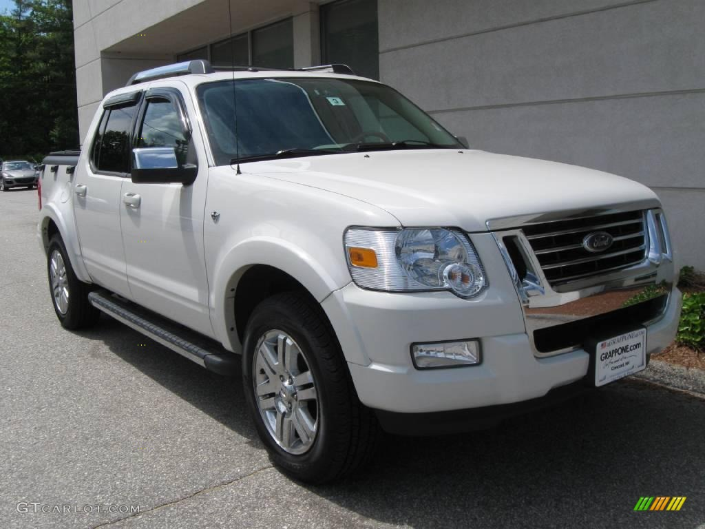 2008 Ford Explorer Sport Trac Limited 4x4 - White Suede Color / Camel ...