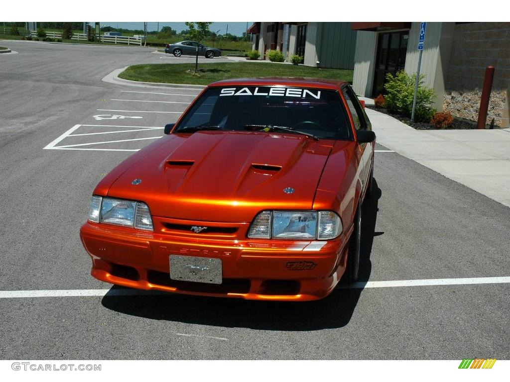 1989 Candy Orange Ford Mustang LX 5.0 Coupe #10724293 ...