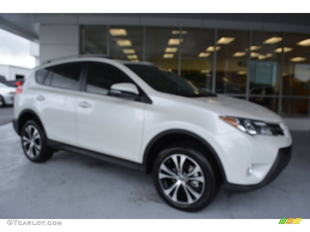 2015 blizzard pearl toyota rav4 limited 107502976 car color galleries. Black Bedroom Furniture Sets. Home Design Ideas