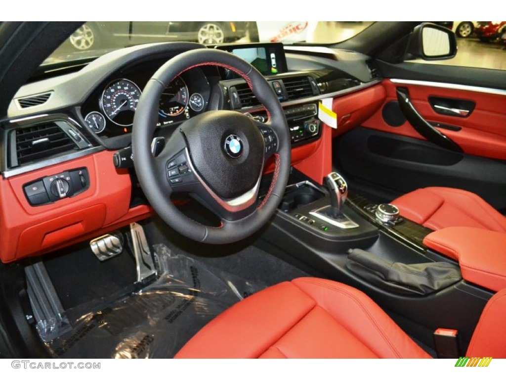 Coral Red Interior 2016 BMW 4 Series 428i Gran Coupe Photo 107519003