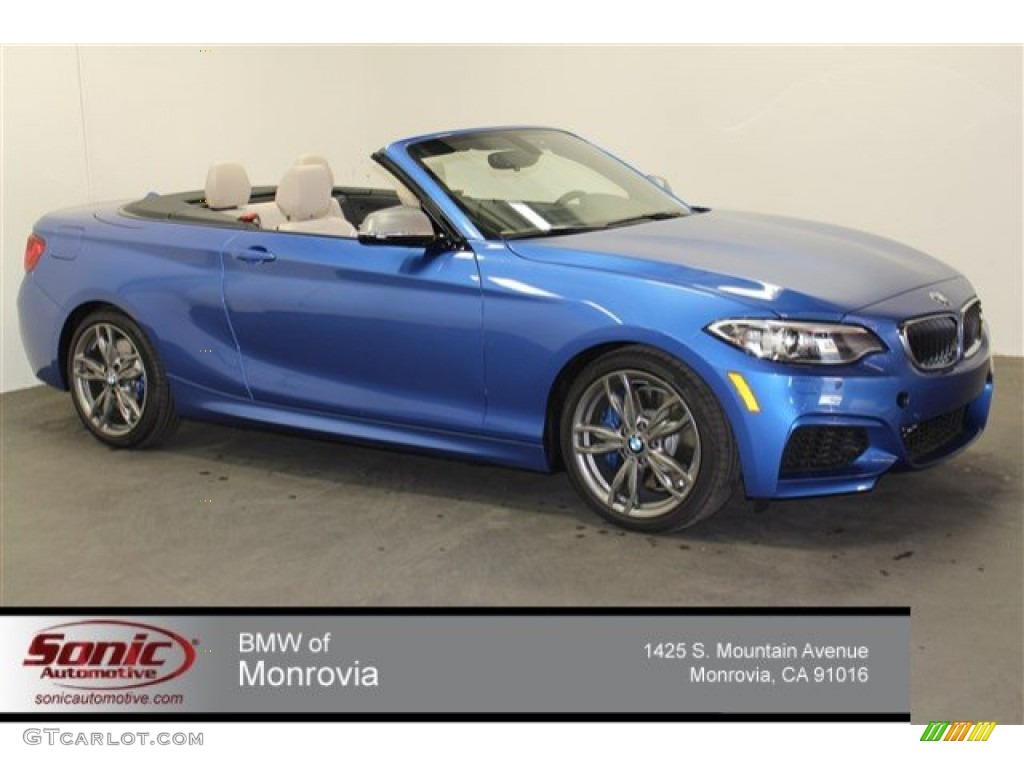 2015 Estoril Blue Metallic Bmw 2 Series M235i Convertible