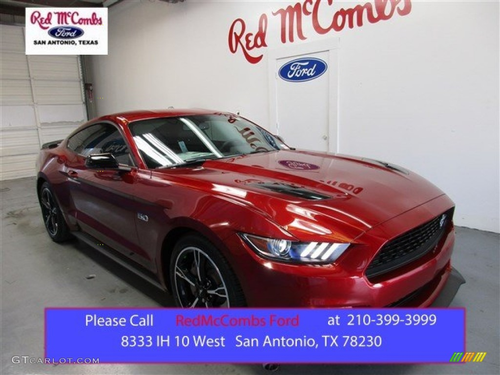 2016 Ruby Red Metallic Ford Mustang Gt Cs California Special Coupe 2015