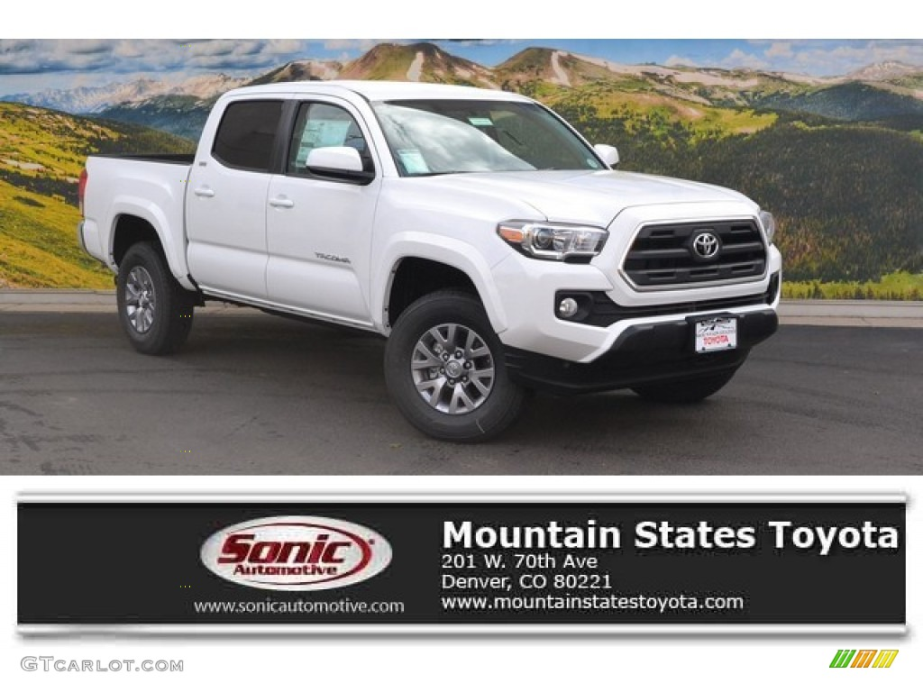 2016 super white toyota tacoma sr5 double cab 4x4 107569987 car color galleries. Black Bedroom Furniture Sets. Home Design Ideas