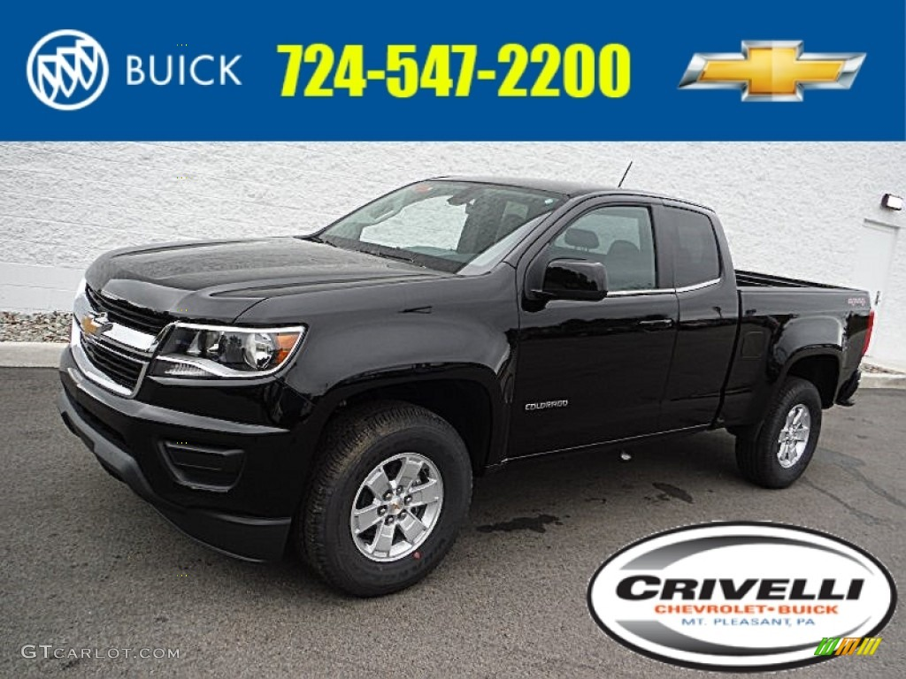 2016 black chevrolet colorado wt extended cab 4x4 107570345 car color galleries. Black Bedroom Furniture Sets. Home Design Ideas
