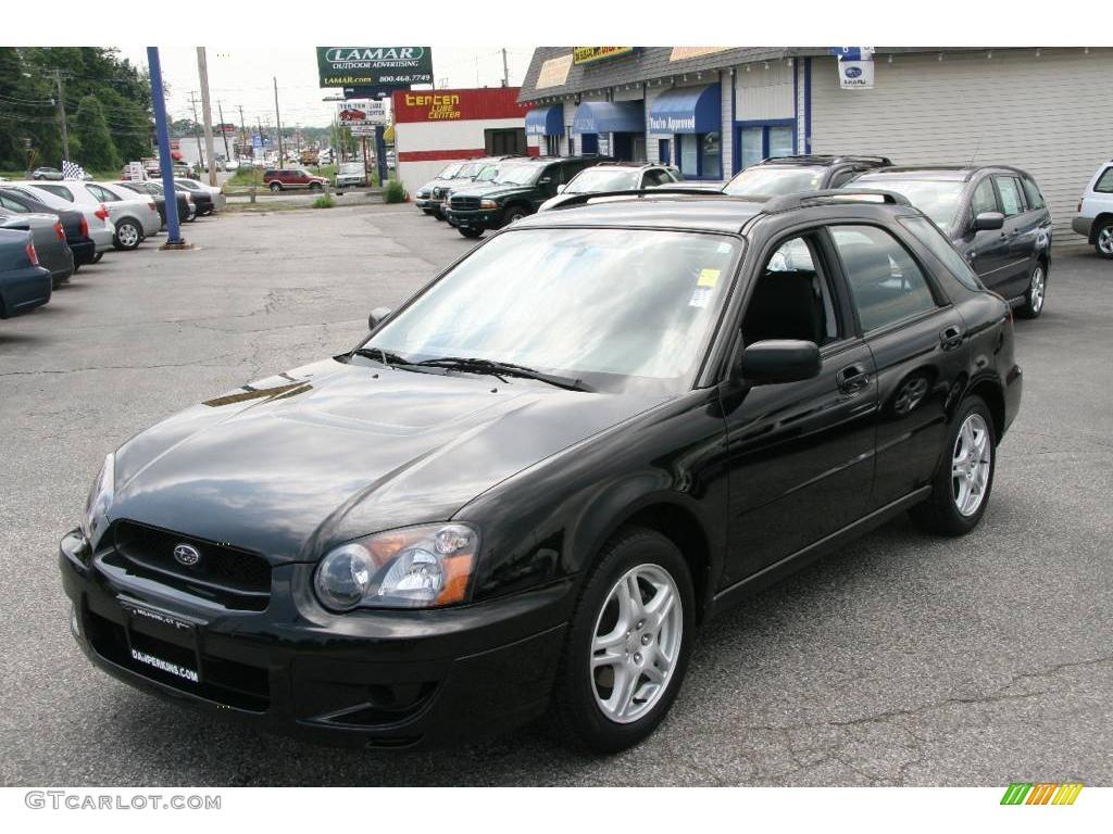 2005 obsidian black pearl subaru impreza 2.5 rs wagon #10717985