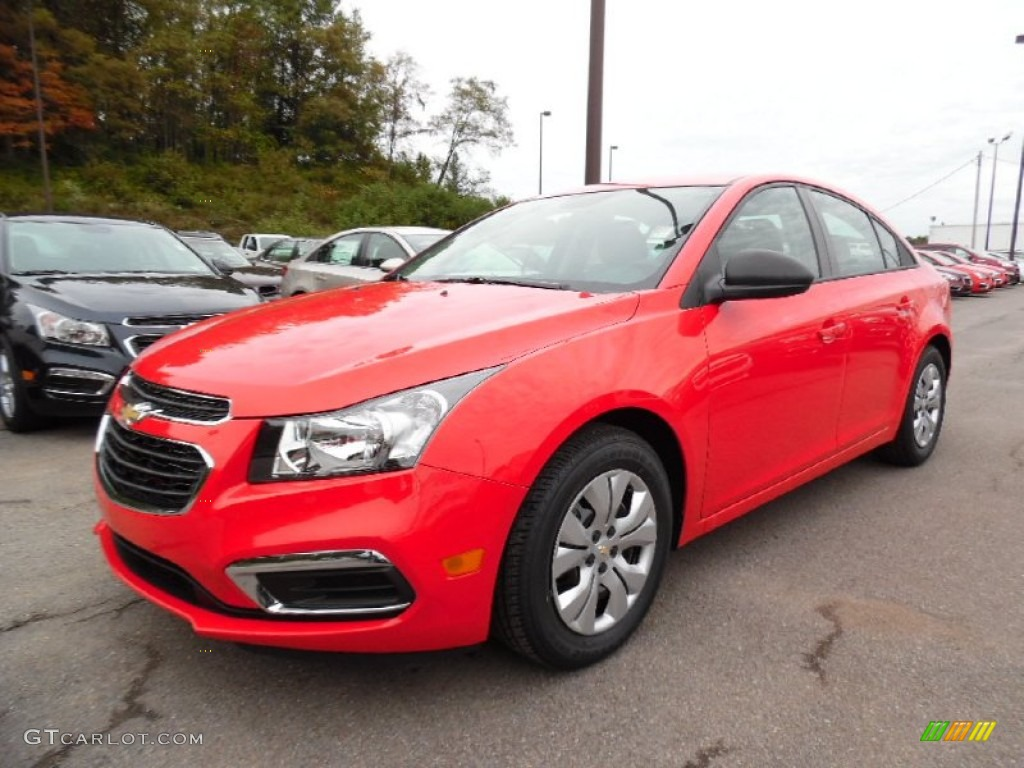 2016 Cruze Limited LS - Red Hot / Jet Black/Medium Titanium photo #1
