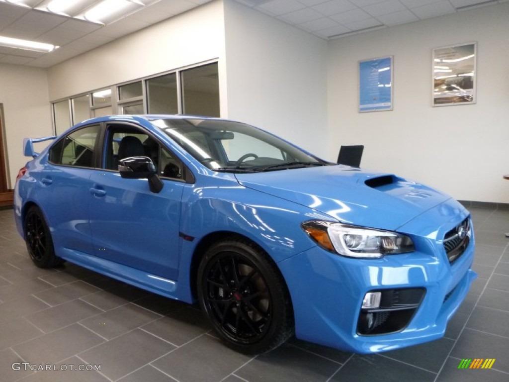 Hyper Blue Subaru Wrx