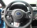 2016 Subaru WRX Carbon Black/Hyper Blue Interior Steering Wheel Photo